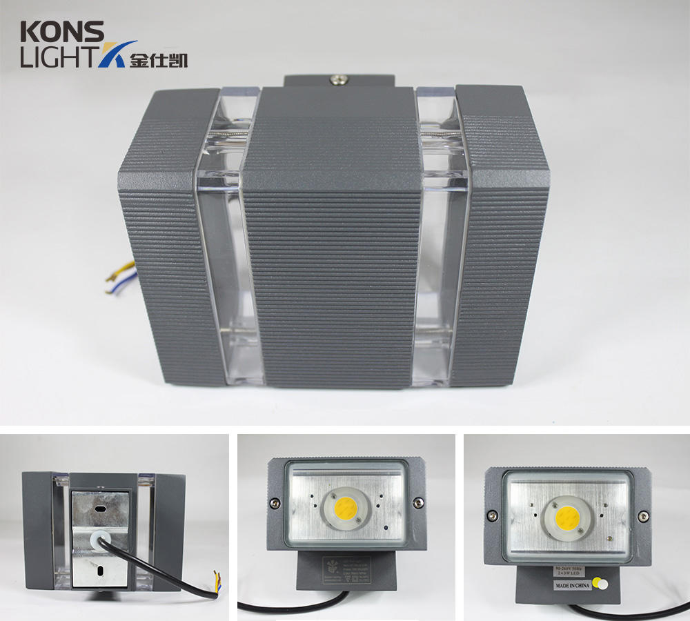 Kons Brand pc tempered outdoor luminous led outside wall lights