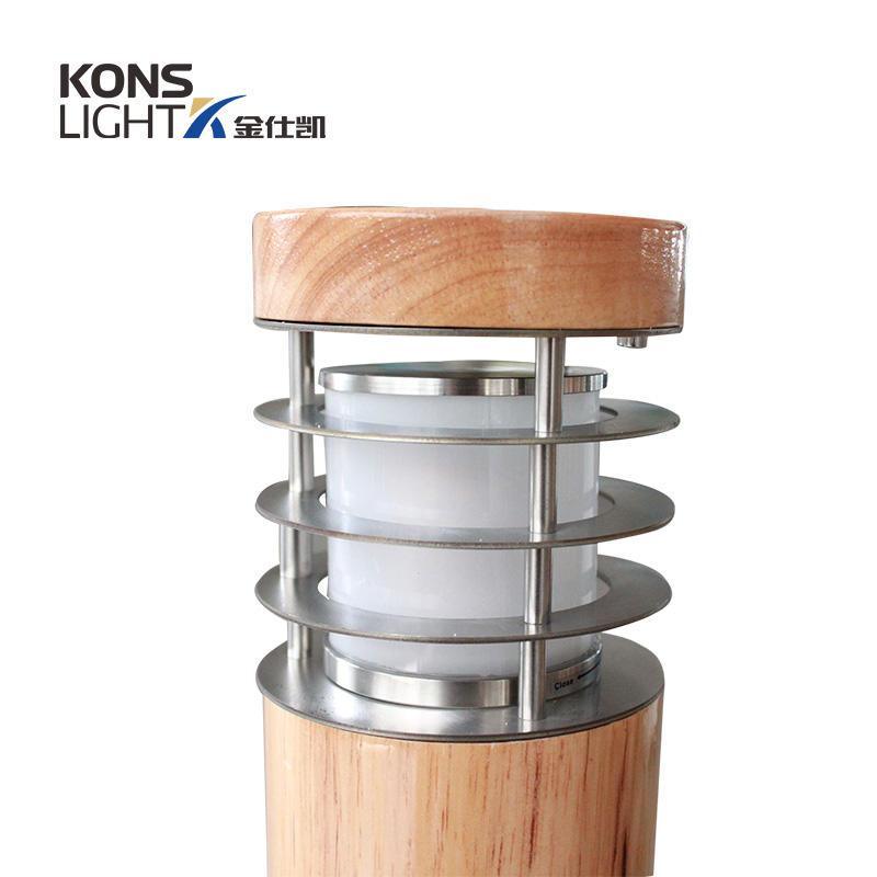 10W LED Wood housing Lawn Light 120° Beam 250mm-800mm