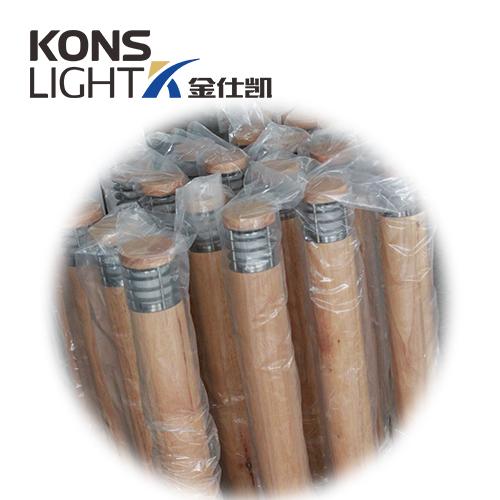 Kons-10w Led Wood Housing Led Lawn Light 120° Beam 250mm-800mm-1