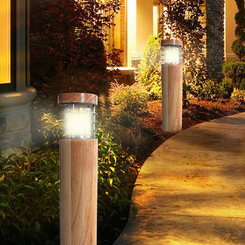 Kons-10w Led Wood Housing Led Lawn Light 120° Beam 250mm-800mm-4