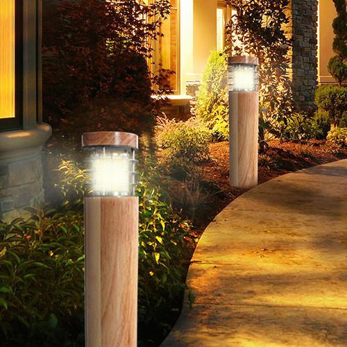garden post lights waterproof led wood Kons Brand company