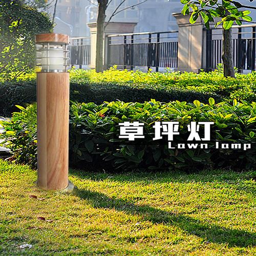 Kons-10w Led Wood Housing Led Lawn Light 120° Beam 250mm-800mm-5