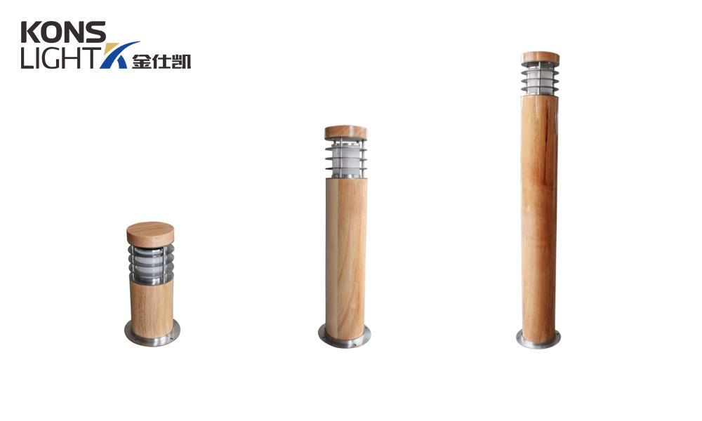 Kons-Led Lawn Light | 10w Led Wood Housing Lawn Light 120° Beam 250mm-800mm