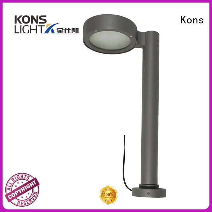 wood pvc OEM led lawn light Kons