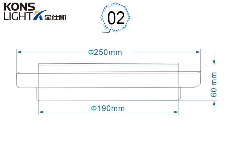 Kons-12-18w Led Surface Panel Light Circular 3 Years Warranty-1