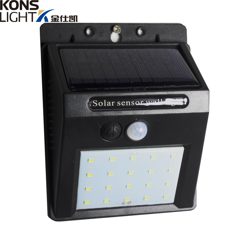 LED Solar Wall Light IP65 Waterproof Outdoor 4W ABS Material