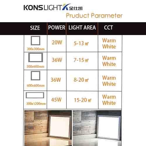 Kons-High-quality Square Led Panel Light | 20w-45w Led Pendant Panel Light 3000k-6000k-1