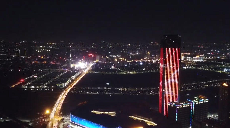 highest building, we made all facade lights
