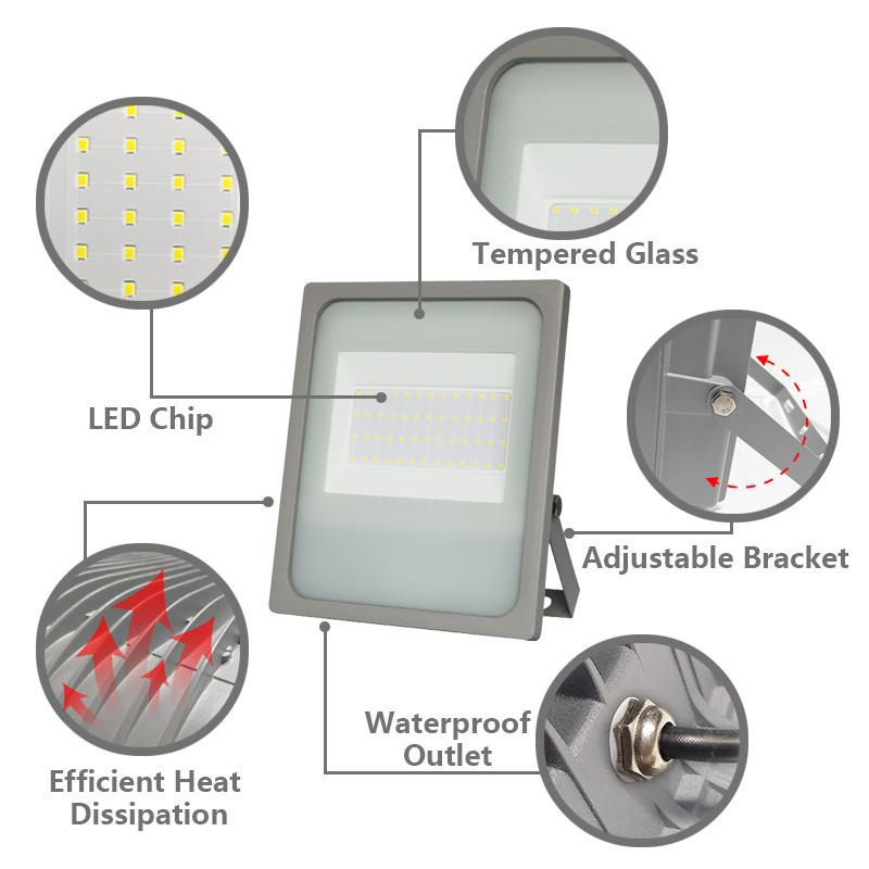 Kons-Led Light Supplier, Led Smd 20w-200w 120° Beam Ip65 Waterproof-2