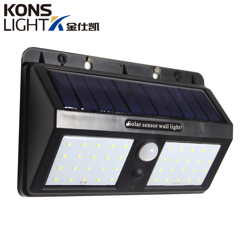 LED Solar Wall Light IP65 Waterproof Outdoor 8W ABS Material