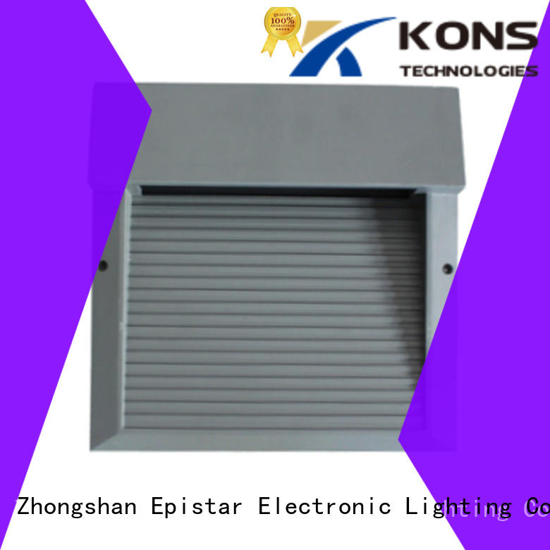 Kons eco-friendly led outside wall lights lamp for courtyard