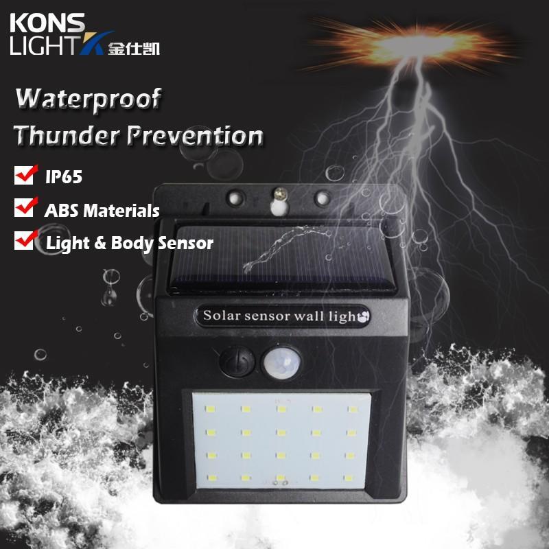 Kons-Best Solar Powered Wall Lights Led Solar Wall Light Ip65 Waterproof Outdoor